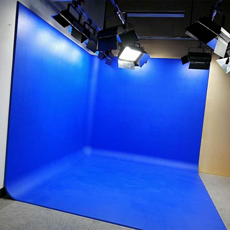 免漆抠像蓝箱扇型