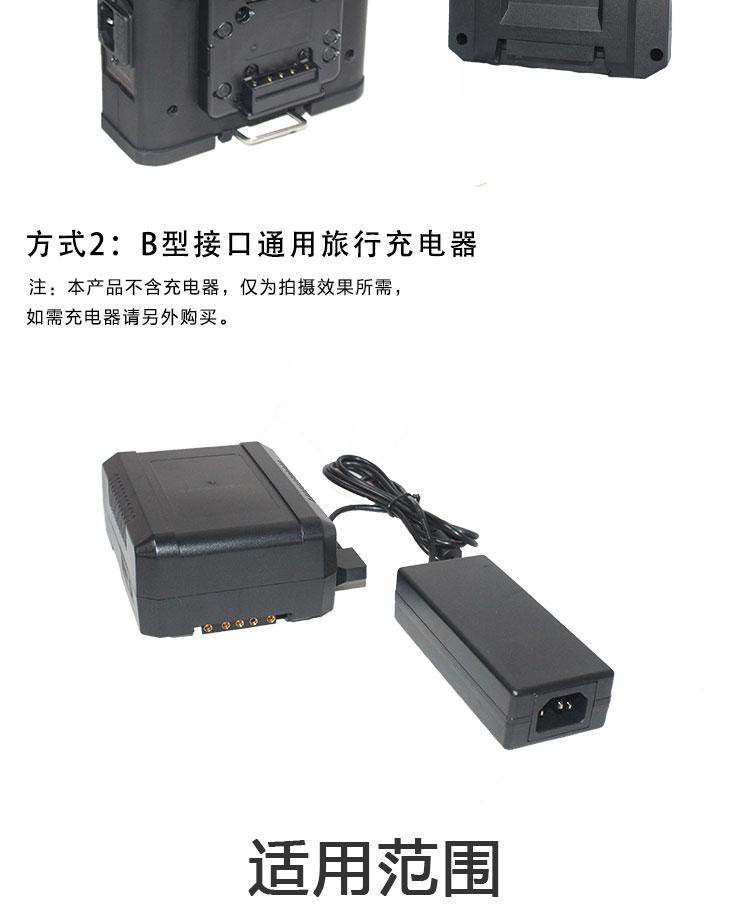 摄像机供电 监视器平板灯用移动v型卡口电源挂架 索尼V口230s电池(图7)