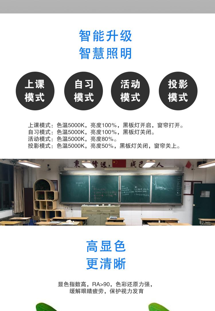 教室LED光源护眼黑板灯 led教室护眼黑板灯(图4)