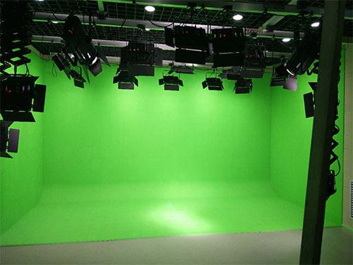 校园电视台虚拟演播室灯光 小型虚拟演播室