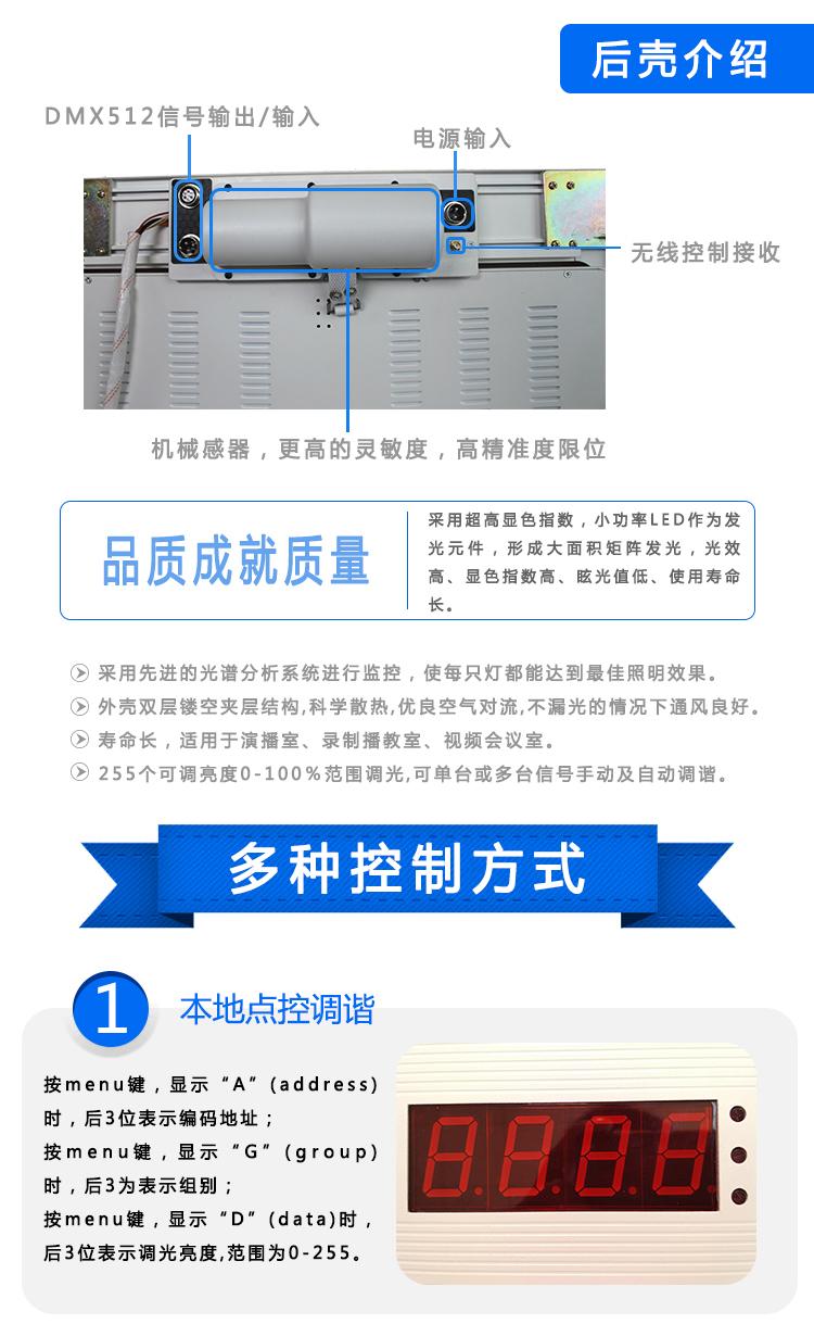 嵌入式LED数字遥控电动翻转柔光灯(图3)
