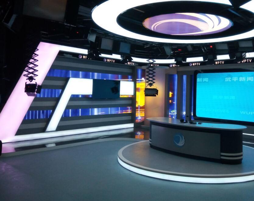 校园电视台与演播室双景区的构成