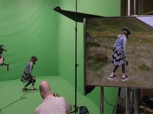 虚拟演播室抠像背景与免漆拼接抠像蓝箱制作